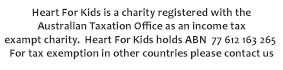 Heart For Kids tax Statement ABN