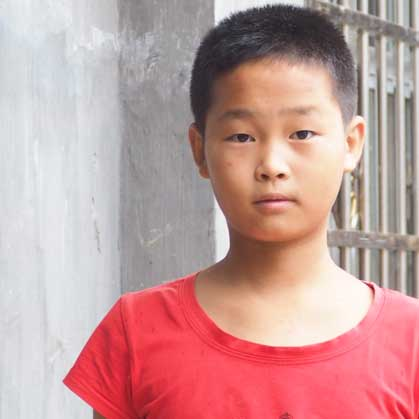 Boy from China Heart for Kids