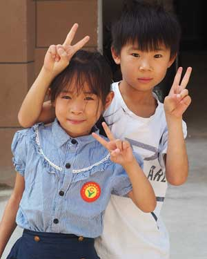 Heart for Kids girl and boy